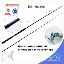 SPR116 245cm pêche bon marché en fibre de carbone tige de pêche spinning