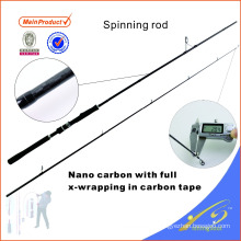 SPR116 245 сантиморганов дешевые рыболовные снасти углеродного волокна удочка спиннинг