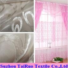 100% Poliéster Flocked Curtain para cortina na cortina
