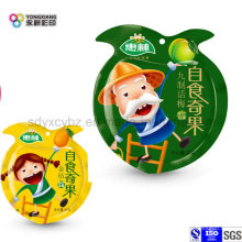 Kundenspezifische Snack Food Plastic Packaging Shaped Bag