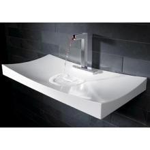 Salle de bain élégante comptoir comptoir lavabo de marbre blanc brillant (BS-8403)