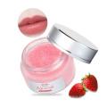 Wholesale Frosted Lip Scrub Jar Vegan Lip Care Scrub Pink Strawberry Exfoliating Organic Sugar Lip Scrub