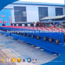 H shape steel welding stocked metal floor deck floor making machine