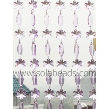 Winter 28MM & 38MM Plastic Crystal Beading Garland