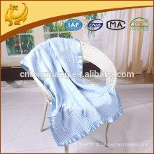 Pure Waffle Design Baby Blankets Custom Woven Throw Blanket