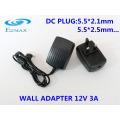 12V 3A Adaptateur mural pour adaptateur secteur CCTV