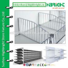 wire mesh shelf divider for supermarket gondola racks