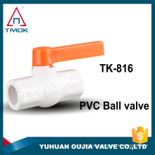 """1/4"""" upvc union double check/ball valve lever handle ppr material china supplier low price for india iran market in OUJIA VALVE"""