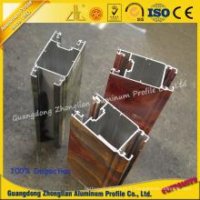 Profil en aluminium adapté aux besoins du client d'extrusion en aluminium de fabricant avec le grain en marbre