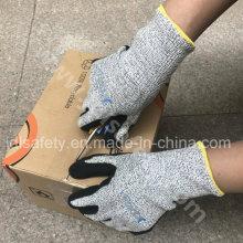 ANSI сократить уровень A4 работы перчатку с нитрила покрытием