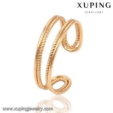 13787 xuping mode nouveau design or dames doigt anneau sans pierre