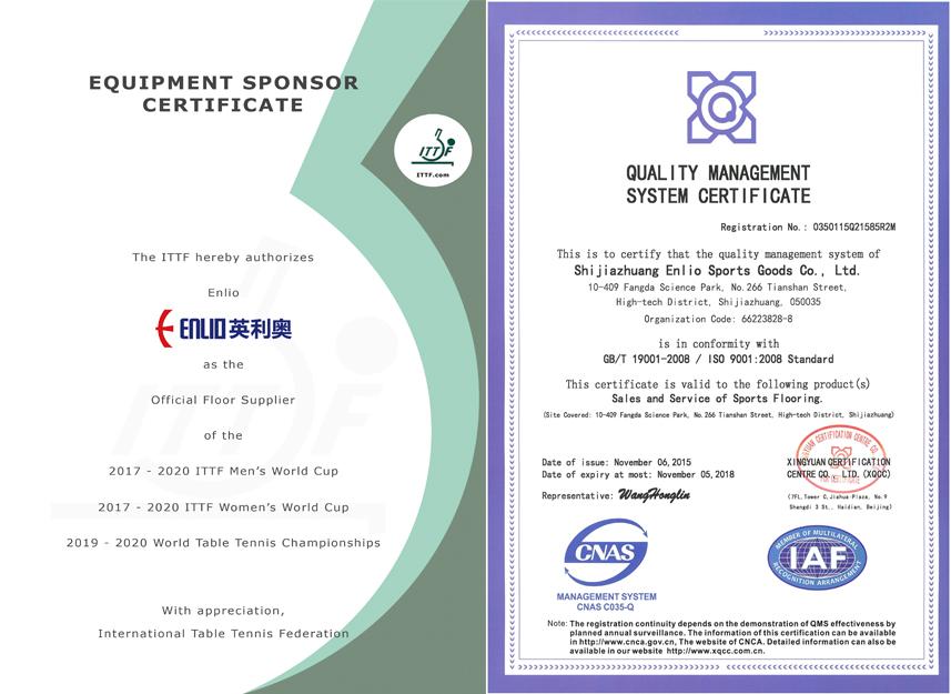 Certification Ittf