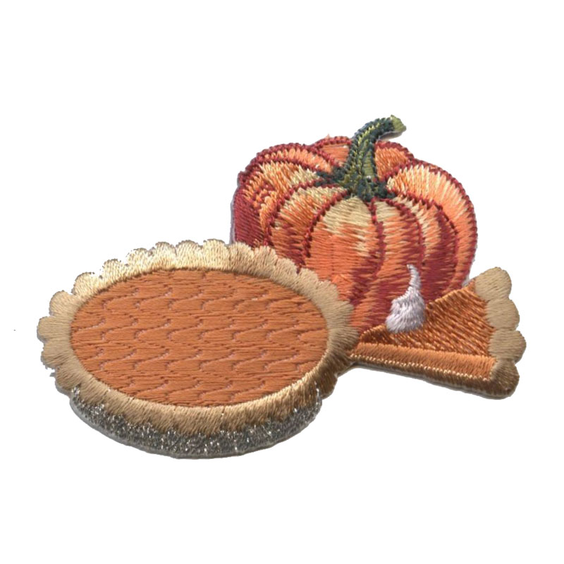 Thanksgiving Pumpkin With Pie And Slice Patch