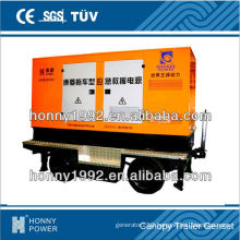 Honny Moving Generator with Four Wheel Trailer