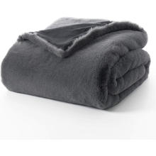 Reversible Super Soft Rabbit Faux Fur Blanket