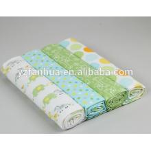 Estampado multicolor de algodón franela niños bebé bebés mantas