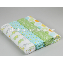 Multicolor Printed Cotton Flannel Kids Baby Infants Blankets