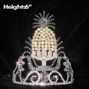 Venta al por mayor Unique Pineapple Crystal Crowns