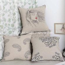 L'oreiller brodé original de coton brodé par Eco-Coton adapté aux besoins du client en gros