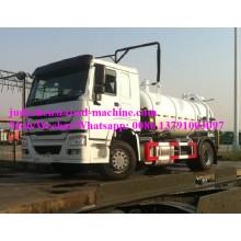 Camion d'aspiration des eaux usées Sinotruk HOWO 10m3 / 12m3