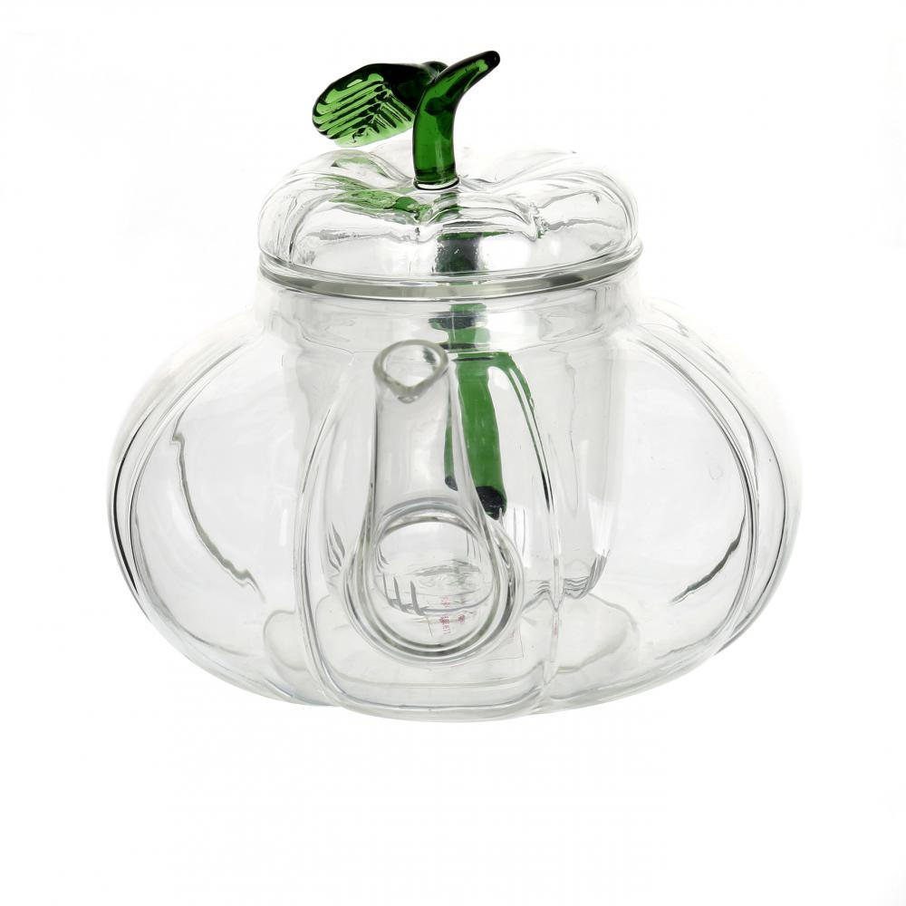 700ml Pumpkin Shape Glass Teapot with Infuser