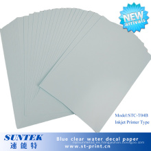 Papel de impresión azul a base de tinta de transferencia de calcomanía para diapositivas acuáticas