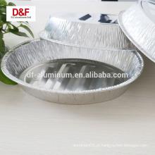 Bandejas de servir de papel alumínio descartáveis para embalagem de alimentos, panela de peru