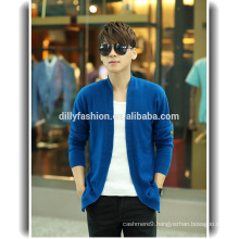 New arrival knit cashmere sweater cardigan mens solid cardigan coat