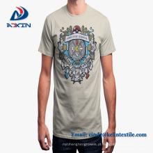 Mangas curtas de fábrica impressão personalizada100% camiseta de algodão