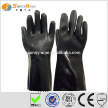 Sunnyhope PVC sandy finish rubber coated gloves