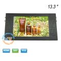 Entrée d'alimentation 9-36V écran large 13.3 pouces moniteur LCD pour bus