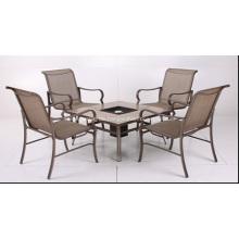 Outdoor Sling Möbel 5pc ESS-Set mit Feuerungen