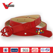2014 Cute buckles red kids belts
