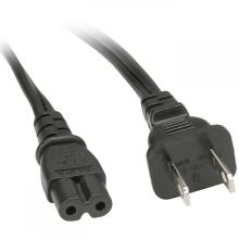 2pin nema 1-15p with iec c7 power cord