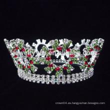 Venta al por mayor reyes del rey del metal revestimientos completos del rhinestone del cristal y tiaras