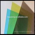 Resina de policarbonato material de construção novo folha de policarbonato de parede de parede gêmea para tetos toldo de clarabóia