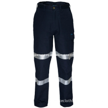 Navy Blue Cotton Twill Safety Pants (ELTHVJ-232)