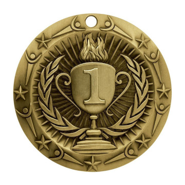 Gold Knowledge Academic Die Cast Medal