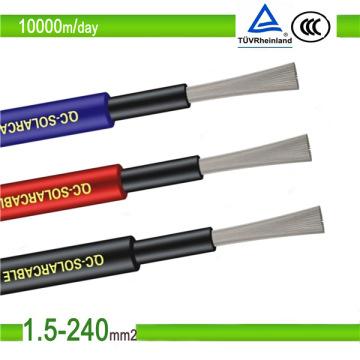 Сертификат TUV PV1-F DC 4 мм2 солнечный фотоэлектрический кабель