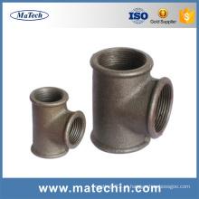 Encaixe de tubulação maleável do ferro fundido da fabricação da fundição ISO9001