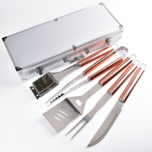 5pcs outils de gril de barbecue or rose