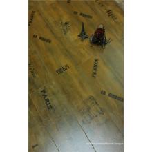 Commrcial 8,3 mm Pearl Walnut V-Grooved encerado laminado pisos