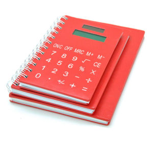 Multi-Function Leather Notebook with Calculator