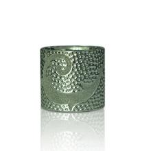 Bougeoirs en céramique à paroi droite avec placage d'argent