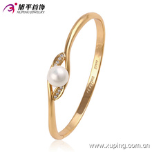 51444 xuping 18K gold color Environmental Copper alloy pearl bangles