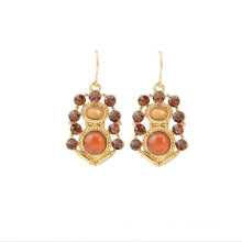 Vintage Hot Selling brinco de luxo para as mulheres, Lady Earring
