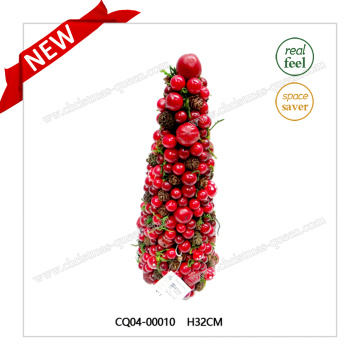 H32cm diseño especial de plástico Artificial flor de cerezo Tree Wreath flor artificial