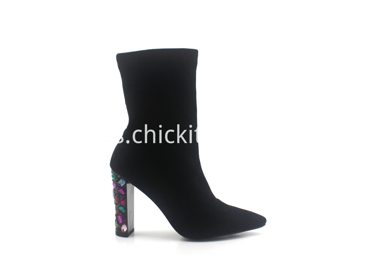 Ladies Fashion boots with colored rhinestones