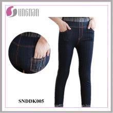 2015 Comfortable Ladies High Waist Faked Jeans Leggings (SNDDK005)