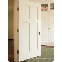 Puerta compuesta blanca de madera sólida de los productos calientes 2015 con el panel del MDF